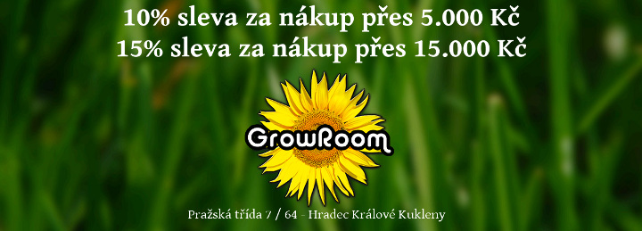 Growroom Hradec Králové - slevy a další důležité info
